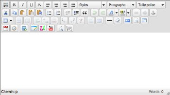Editeur wysiwyg tinyMCE 3.4.3